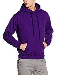 purple hoodie fruit of the loom menu0027s ss026m hoodie atdrqxn