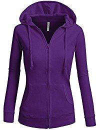purple hoodie tl womenu0027s comfy versatile warm knitted casual zip-up hoodie jackets in  colors ppavnue