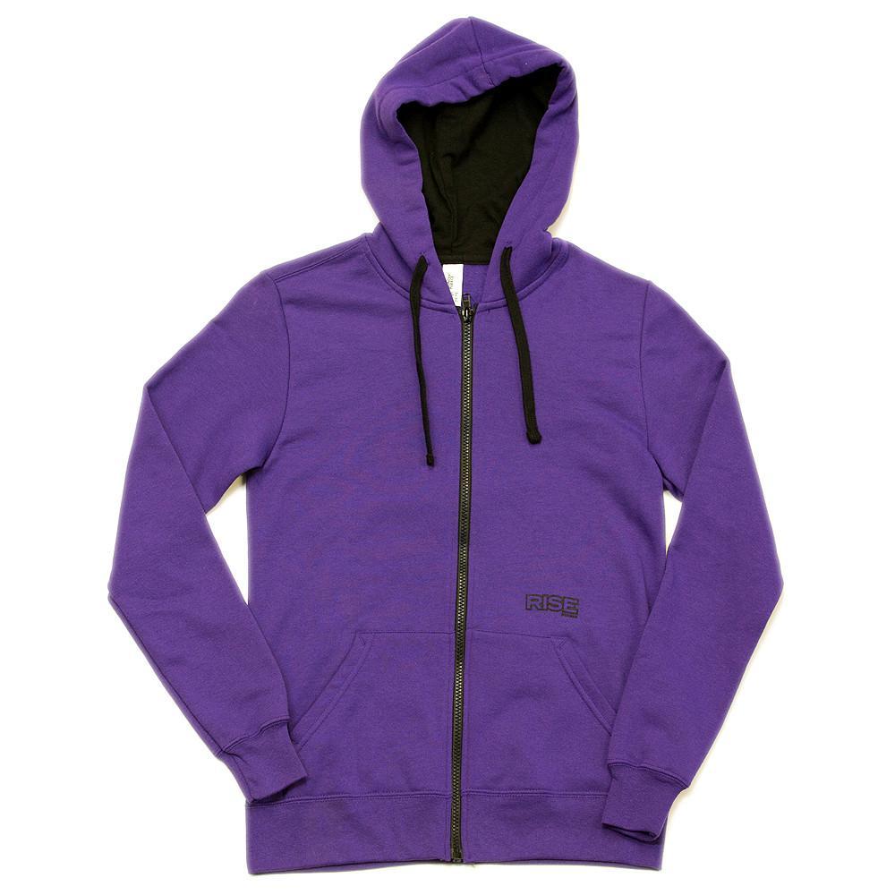 purple hoodie yosemite tree - zip-up hoodie - womens - purple ghraphj