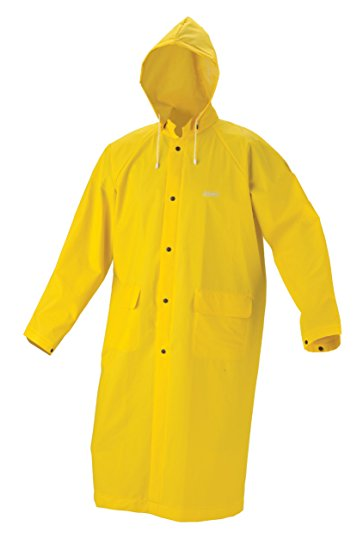 rain coat coleman industrial 30mm pvc raincoat, yellow, large vmuvmaj