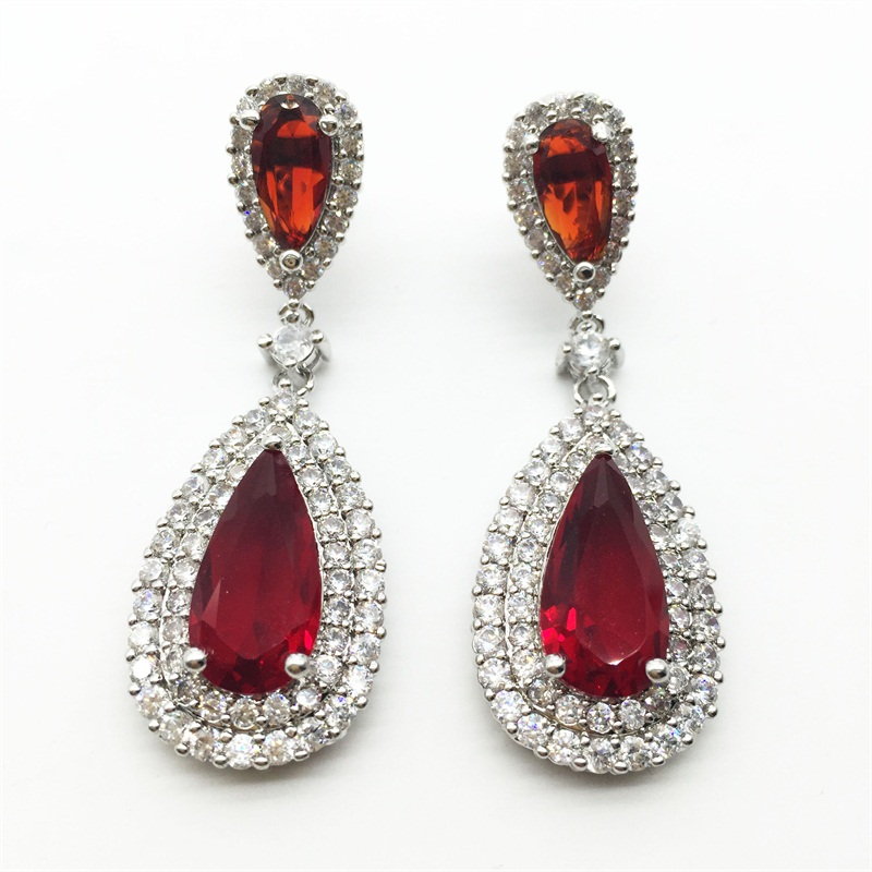 The process of getting red earrings for a perfect match