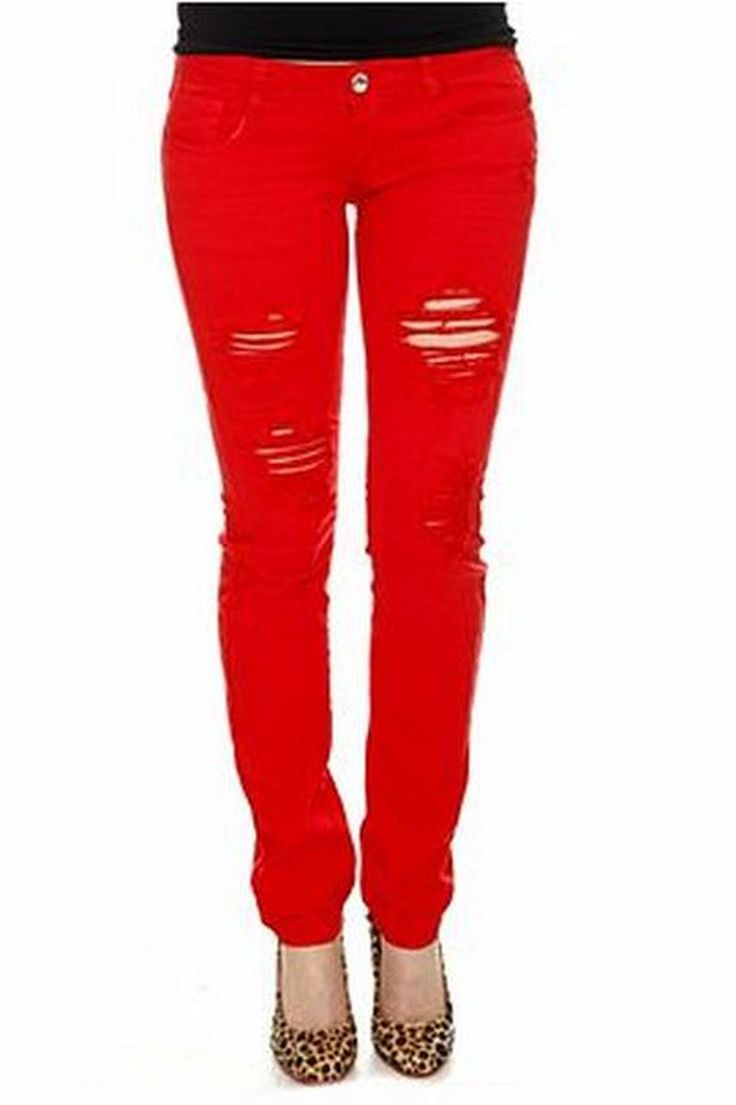 red jeans for women 50+ awesome skinny ripped jeans for women that will make you rock ntvzugl