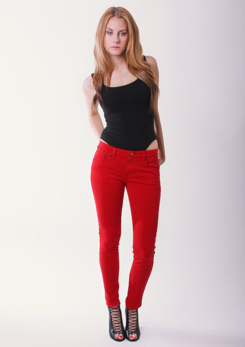 Choose the Best red jeans for women