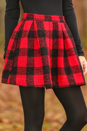 red plaid skirt red and black plaid skirt with pleat detail! we are obsessed! the absolute  perfect qbffhaq
