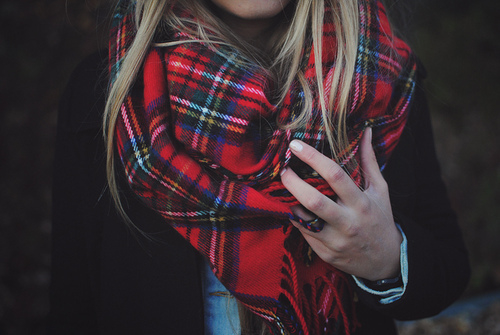 Red Tartan Scarf to protect you in winter