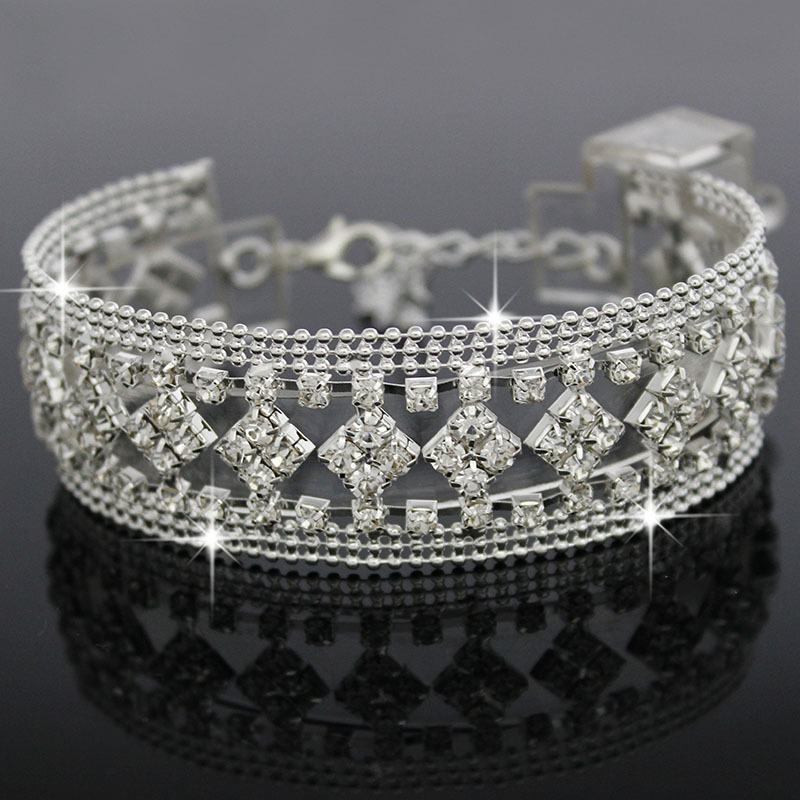rhinestone bracelets aliexpress com f u new fashion gold silver color austrian nxzotcd