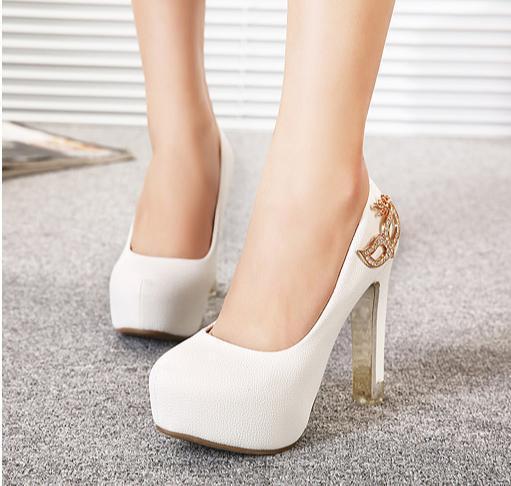 rhinestone fox mask bridal heels white heel ivory shoes comfortable thick  heel platform wedding fbmvkki