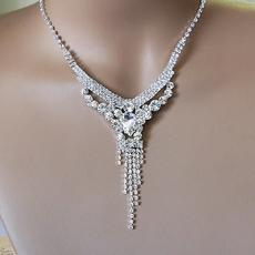 rhinestone necklace kasie rhinestone all clear silver necklace set rhtfyhe