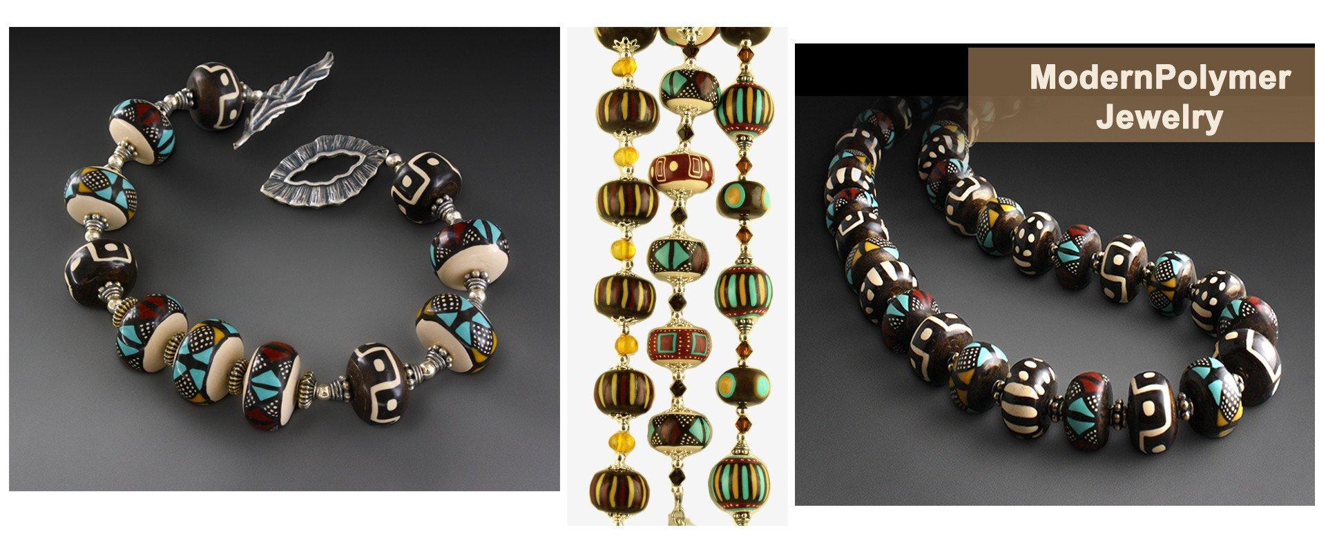 river wolfe art jewelry polymer earrings bracelets necklaces KGUKMBZ