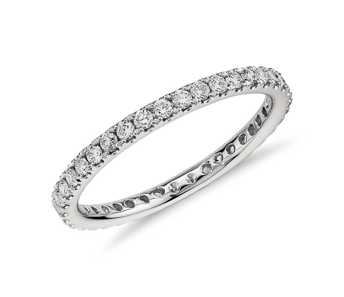 riviera pavé diamond eternity ring in platinum (1/2 ct. tw.) wlldsso