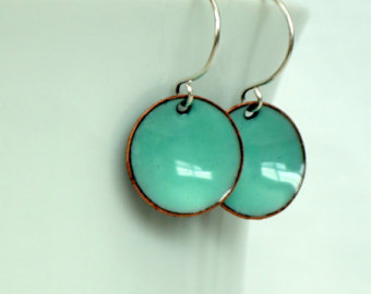 robinu0027s egg blue enamel earrings - enamel jewelry mgnhhko