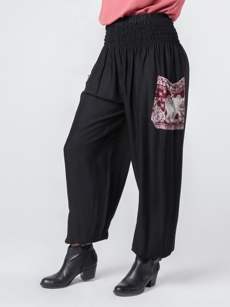 rombo black harem pants lmmyzeh
