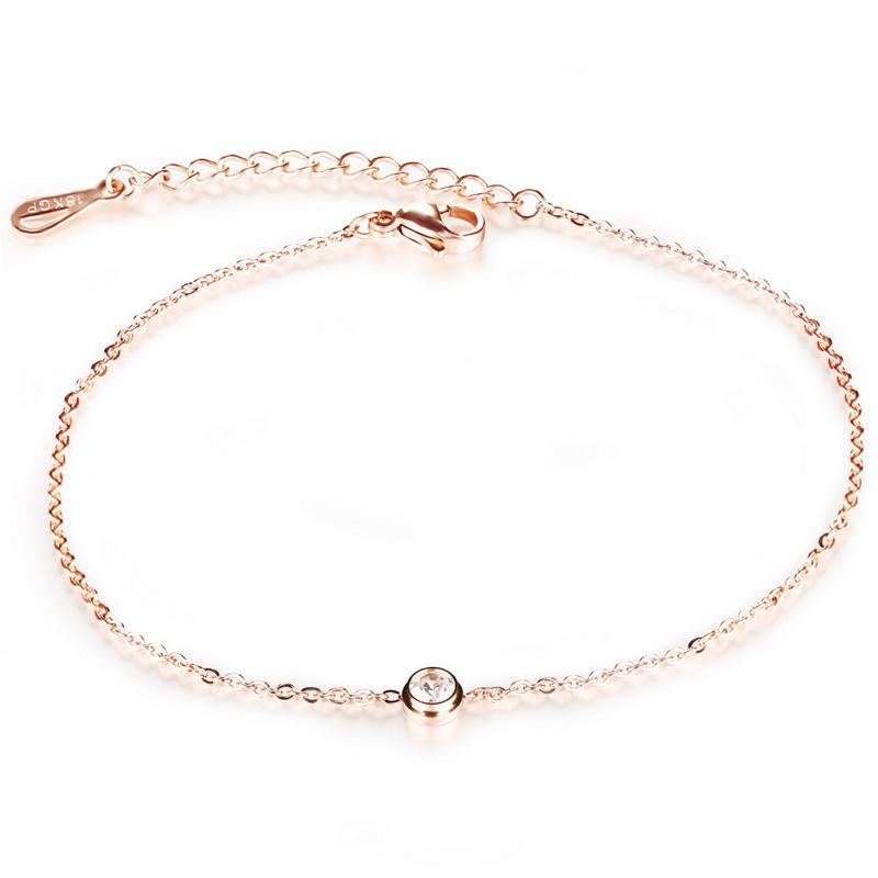 rose gold anklet see larger image digzjad