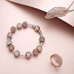 rose gold charm bracelet pandora rose™ collection - rose gold jewelry | pandora kreydkl