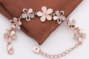 rose gold charm bracelet ... rose gold flower charm bracelet ... fkcufpt