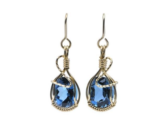 royal blue topaz earrings qygtufn