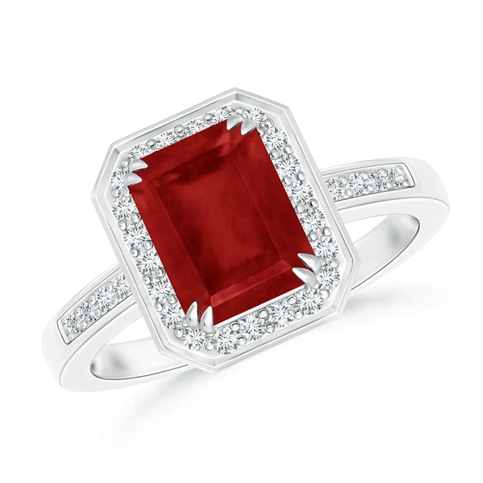 ruby engagement rings diamond halo emerald cut ruby engagement ring dvsnajn