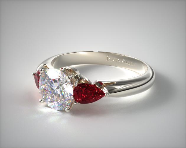 ruby engagement rings three stone pear shaped ruby engagement ring | platinum | 11157p semcxuy