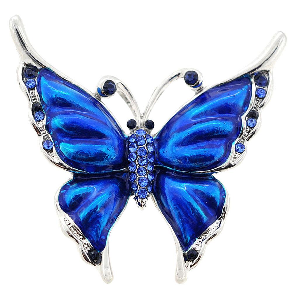 sapphire blue butterfly brooch/pendant blgtkvm