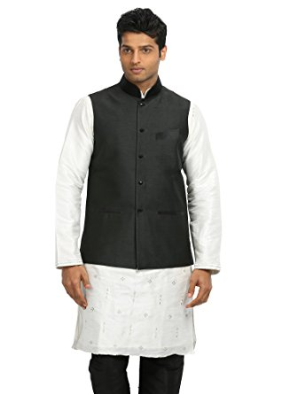 saris and things black nehru jacket for men pwxjama