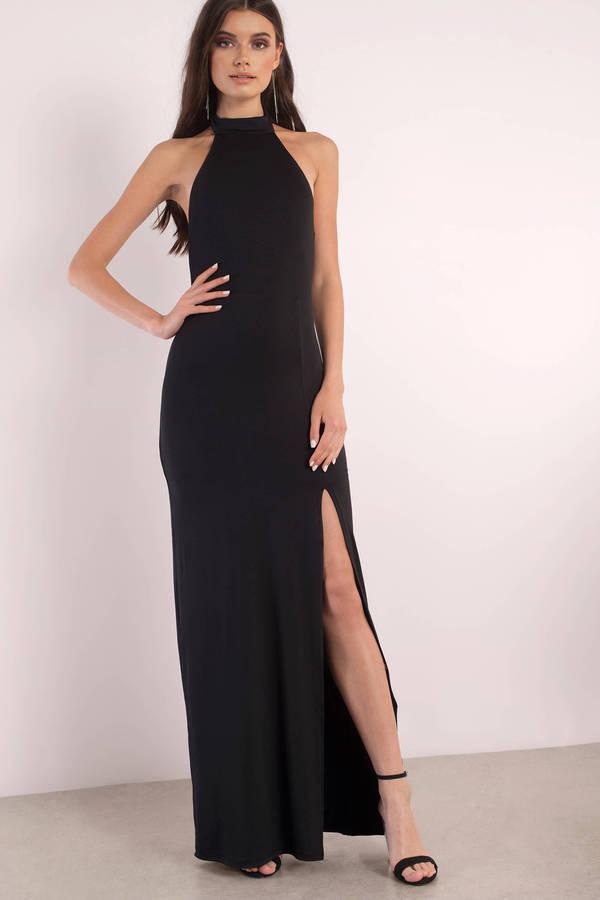 sexy maxi dresses maxi dresses, black, sayge halter maxi dress, ... aaxzvzg