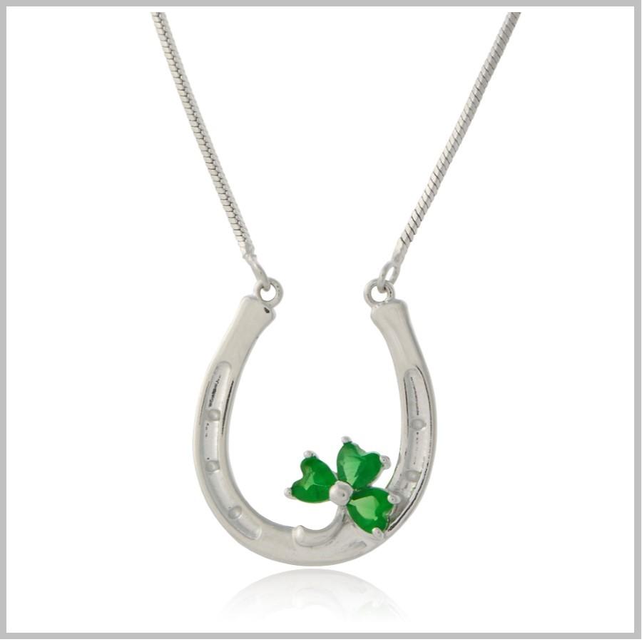 shamrock horseshoe necklace cfthlyr