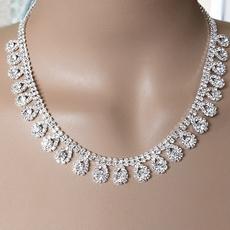 shimmering drops rhinestone necklace set pkslkdm
