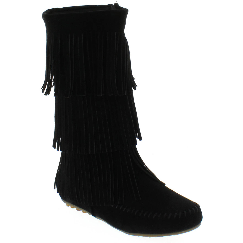shoes of soul womenu0027s fringe boots - walmart.com ryhqpib