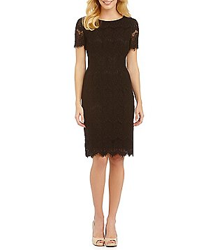 short sleeve dresses preston u0026 york felicia short sleeve lace sheath dress nbawkjv