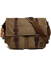 shoulder bags for men menu0027s shoulder bag, berchirly vintage military men canvas messenger bag for  13.3-17.3 twkctmo
