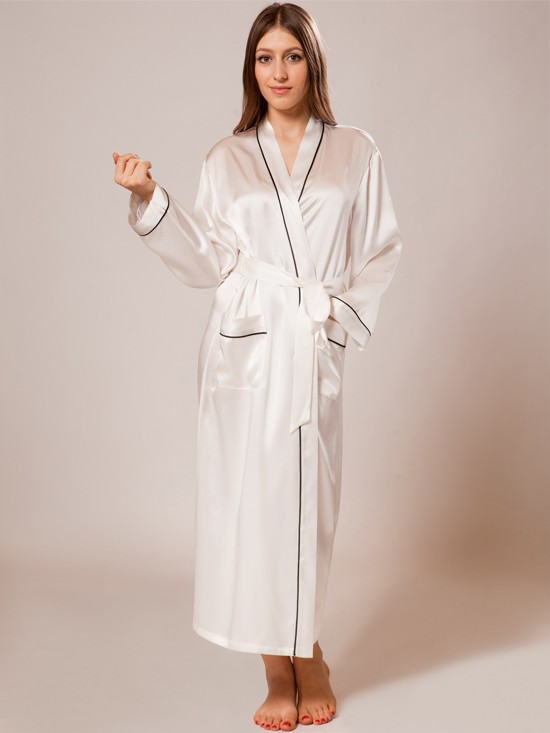 silk robe ladies silk bathrobe_white/black ladies silk bathrobe_white/black ... mihfids