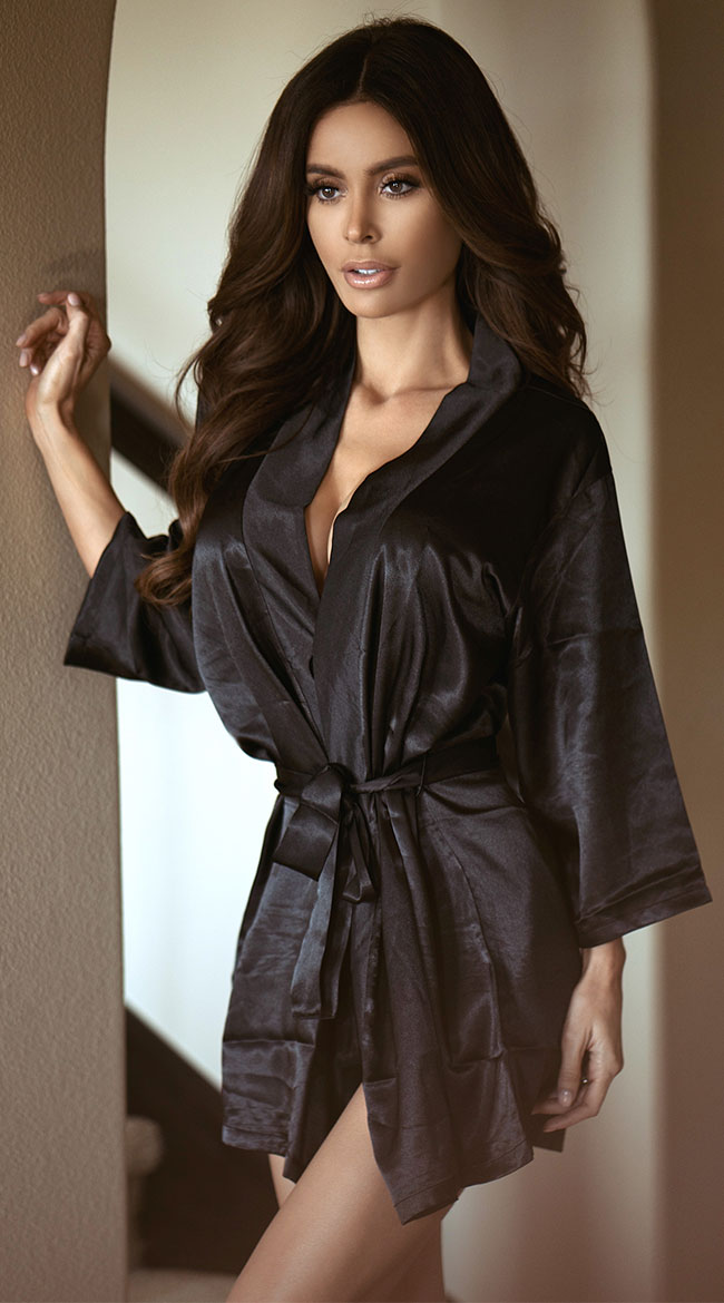 silk robe satin robe with matching sash, satin lingerie robe uwyyozb