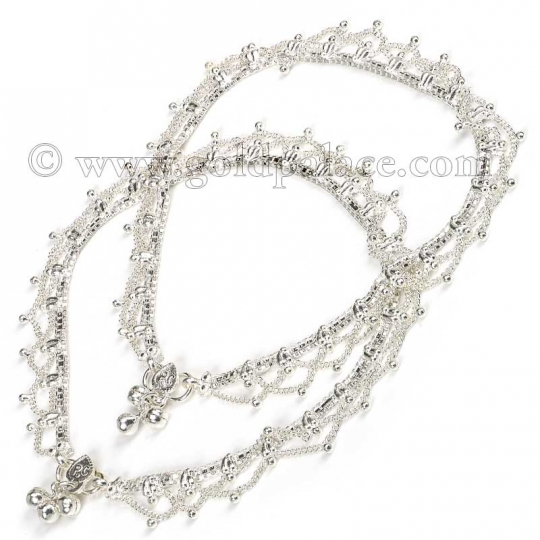 silver anklets 11-0 inches ybctafe
