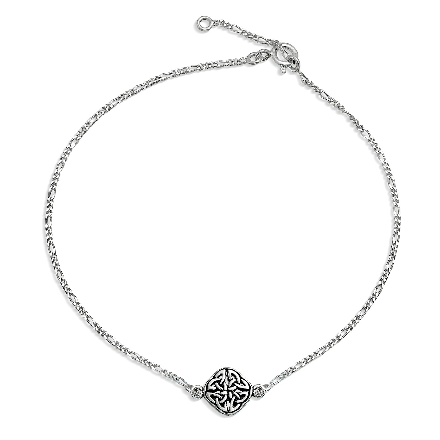 silver anklets bling jewelry 925 sterling silver celtic knot triquetra anklet bracelet hutxmcv