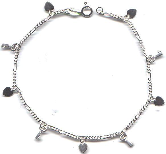 Silver anklets for Charm charm anklet sterling silver anklets braclete #ssa-116. sterling ... mnvwxdc
