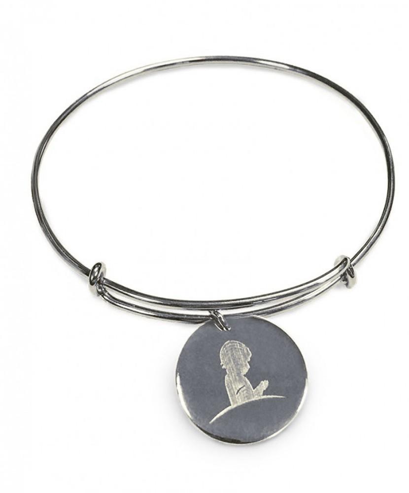 silver bangle charm bracelet AJJSXYP
