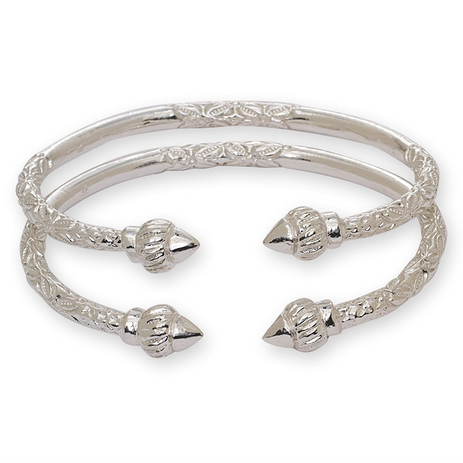 Silver bangles to complement your Style