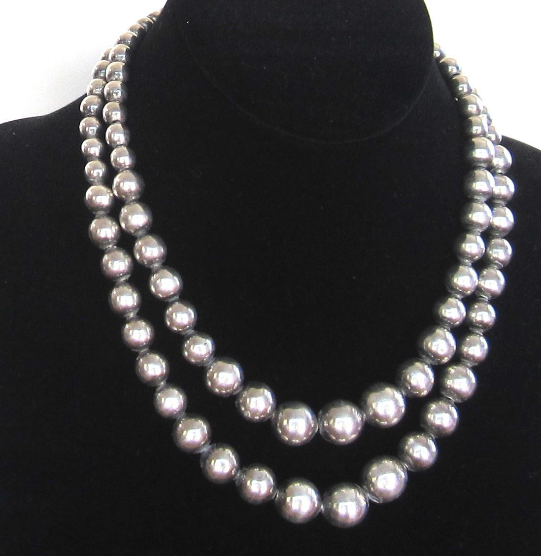 silver bead necklace roll over large image to magnify, click large image to zoom dxpmbiz