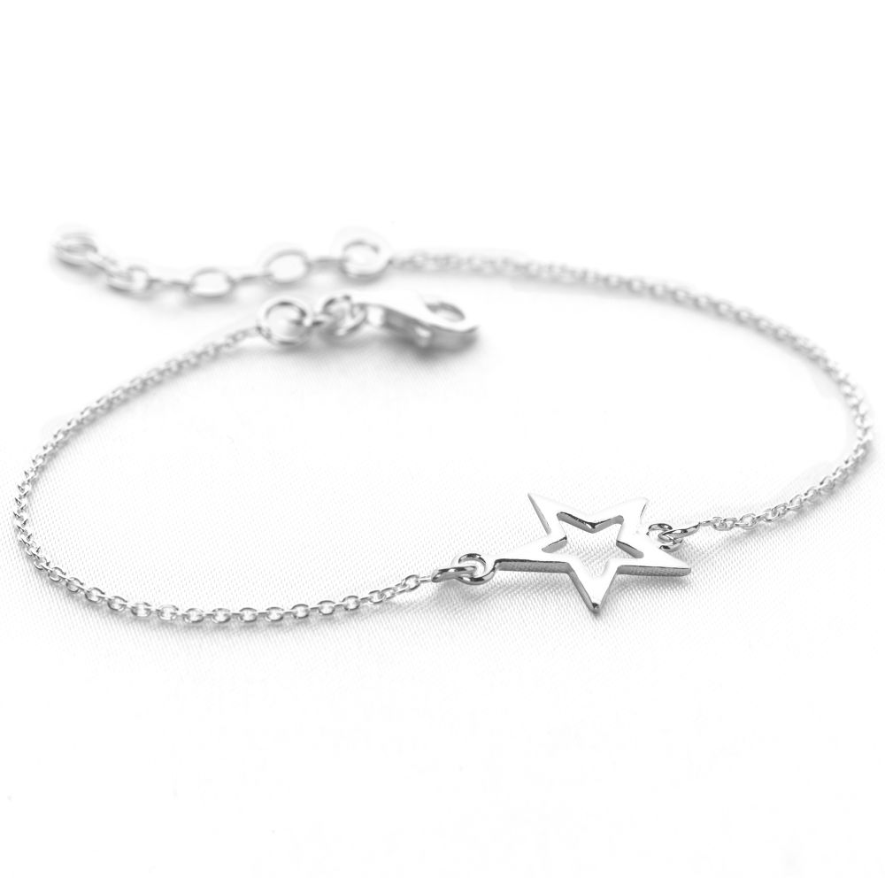 silver bracelets for women little star bracelet fkzlooi