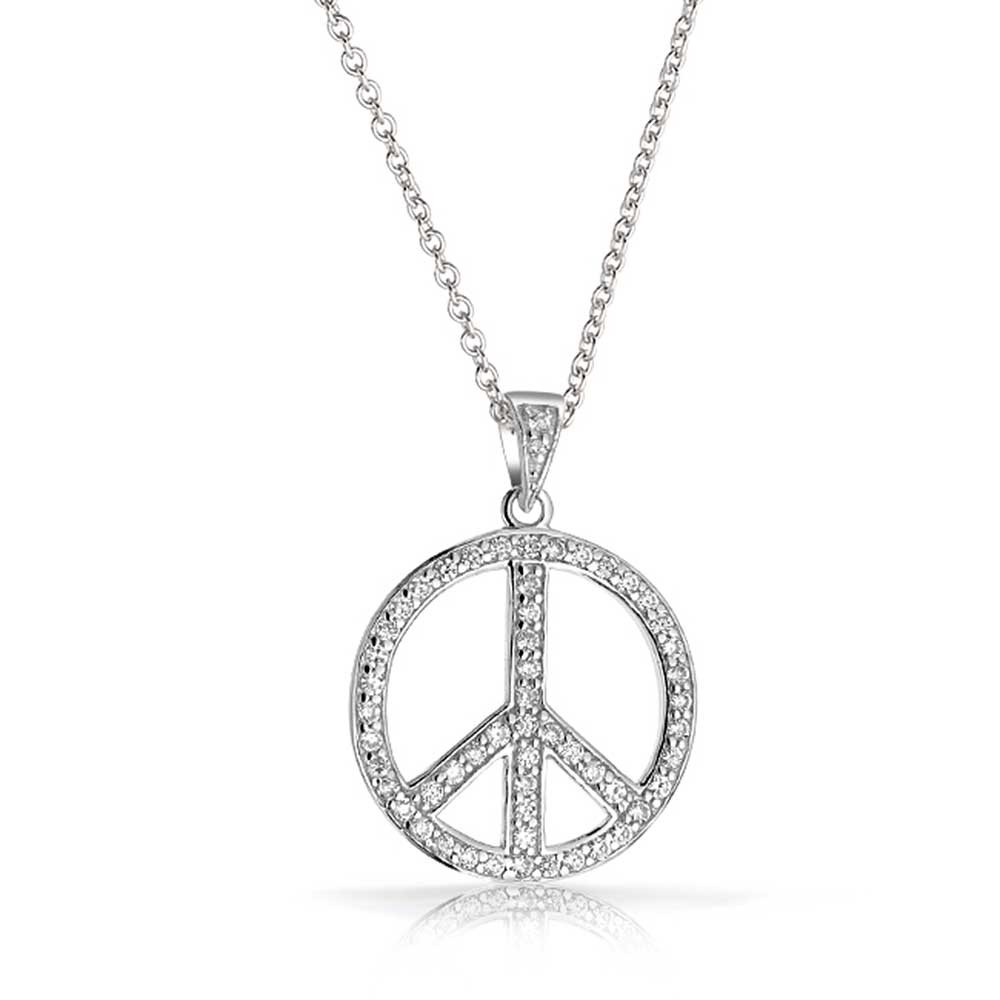 silver pendant necklace peace to all pendant ebmqjtw