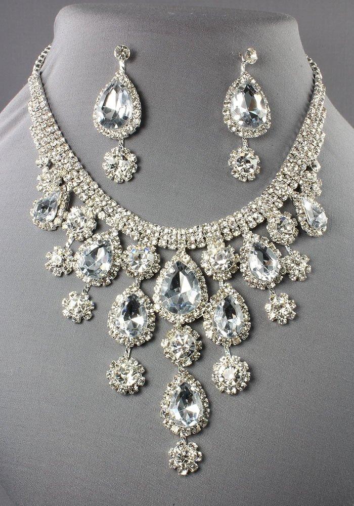 silver rhinestone necklace wgrybfy