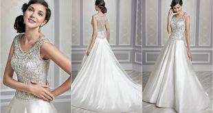 silver wedding dresses | ball gown wedding dresses | satin wedding dresses  | wedding rearmsv