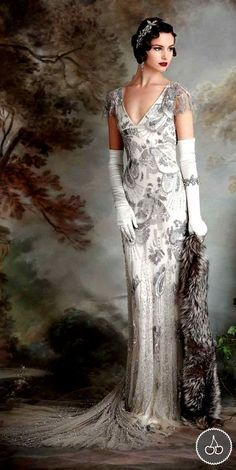 silver wedding dresses iu0027m just crazy about this look! go vintage at http:// · wedding dresses ... xjizudr