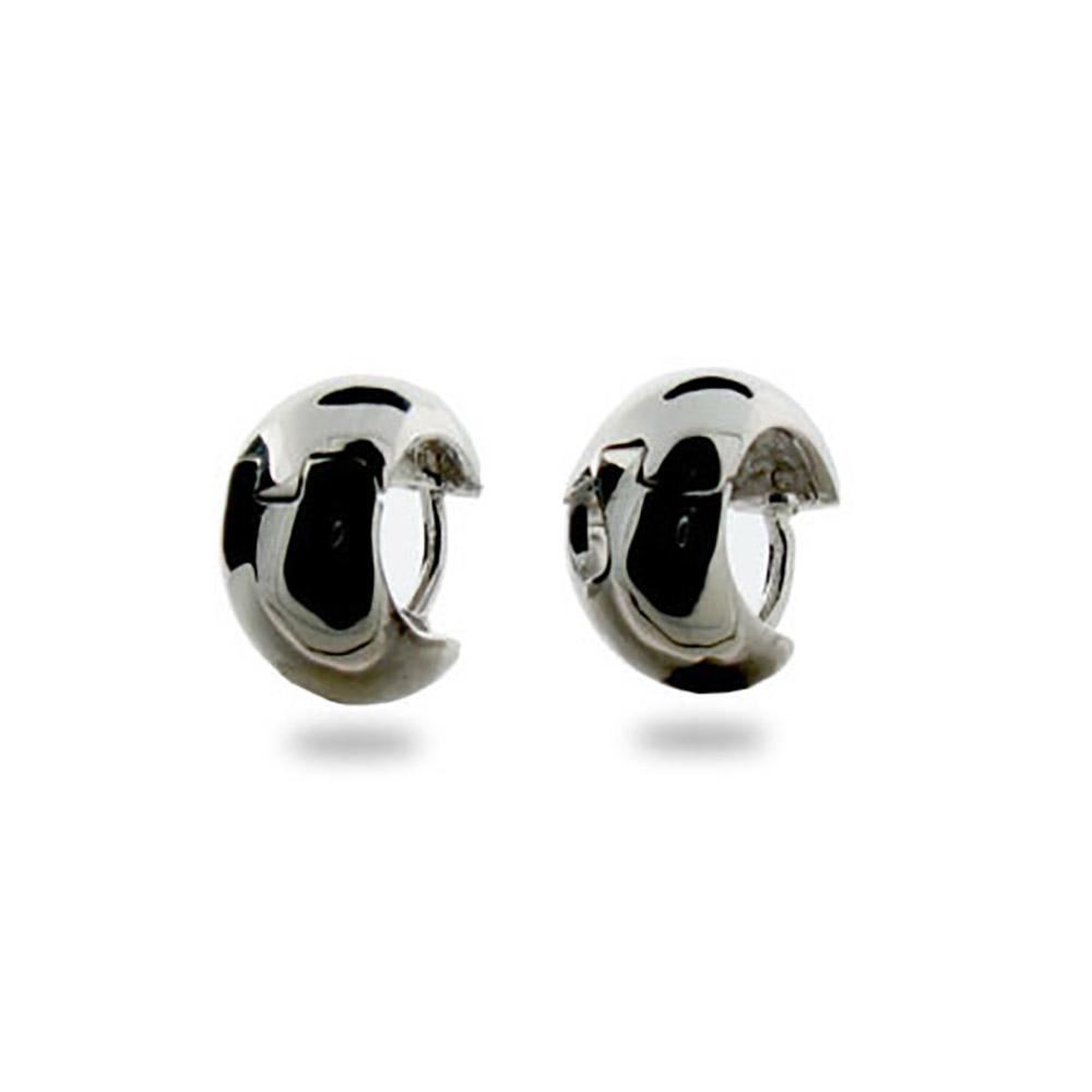 simple wide sterling silver mens earrings llupqik