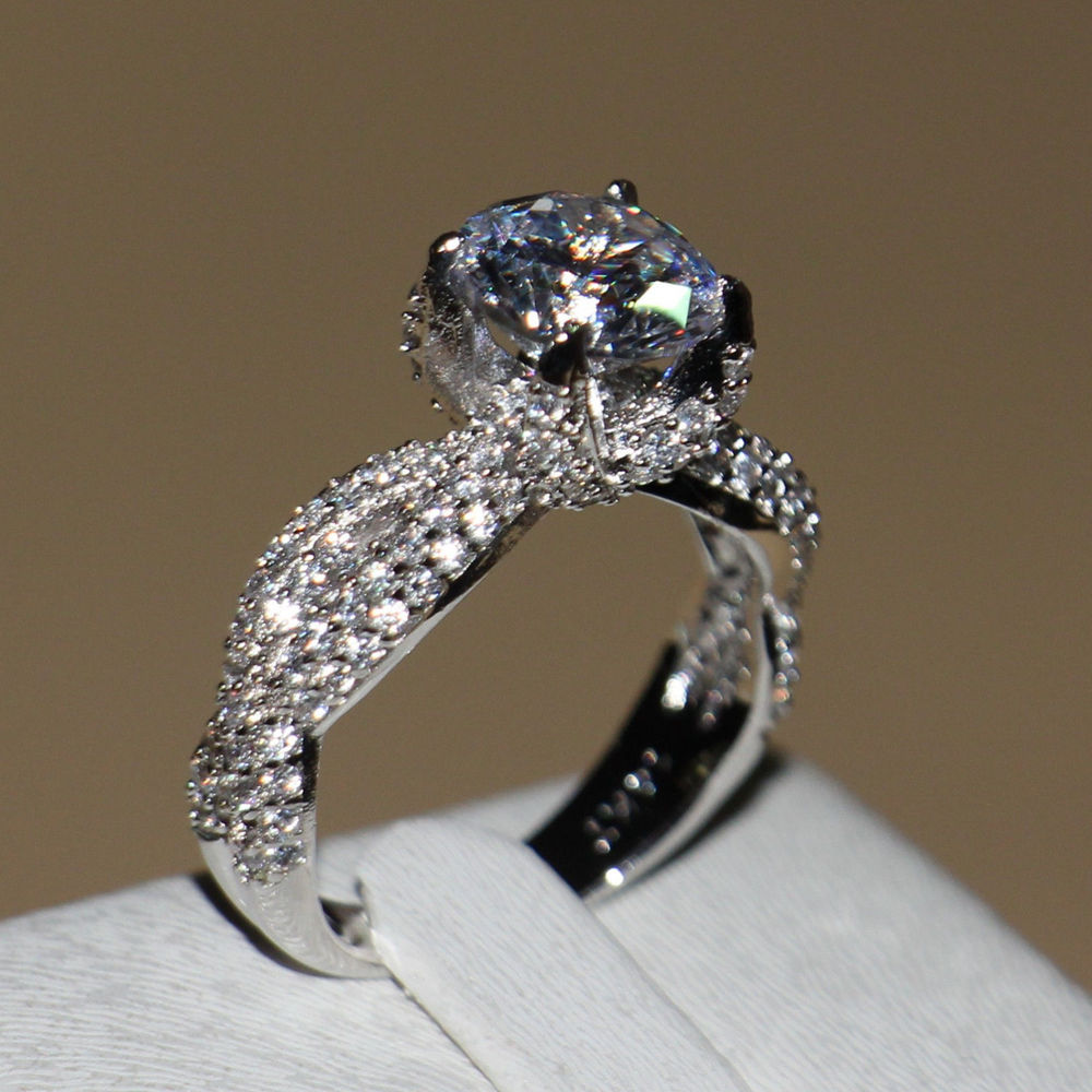 size 5-11 victoria wieck luxury jewelry 132pcs full aaa cz luxury jewelry  white gold umkyvmv