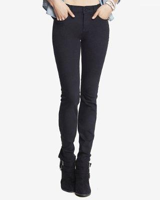 skinny pants black mid rise stretch skinny jeans | express uhyqsxn