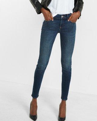 skinny pants mid rise stretch+ performance skinny jeans | express yubtcti