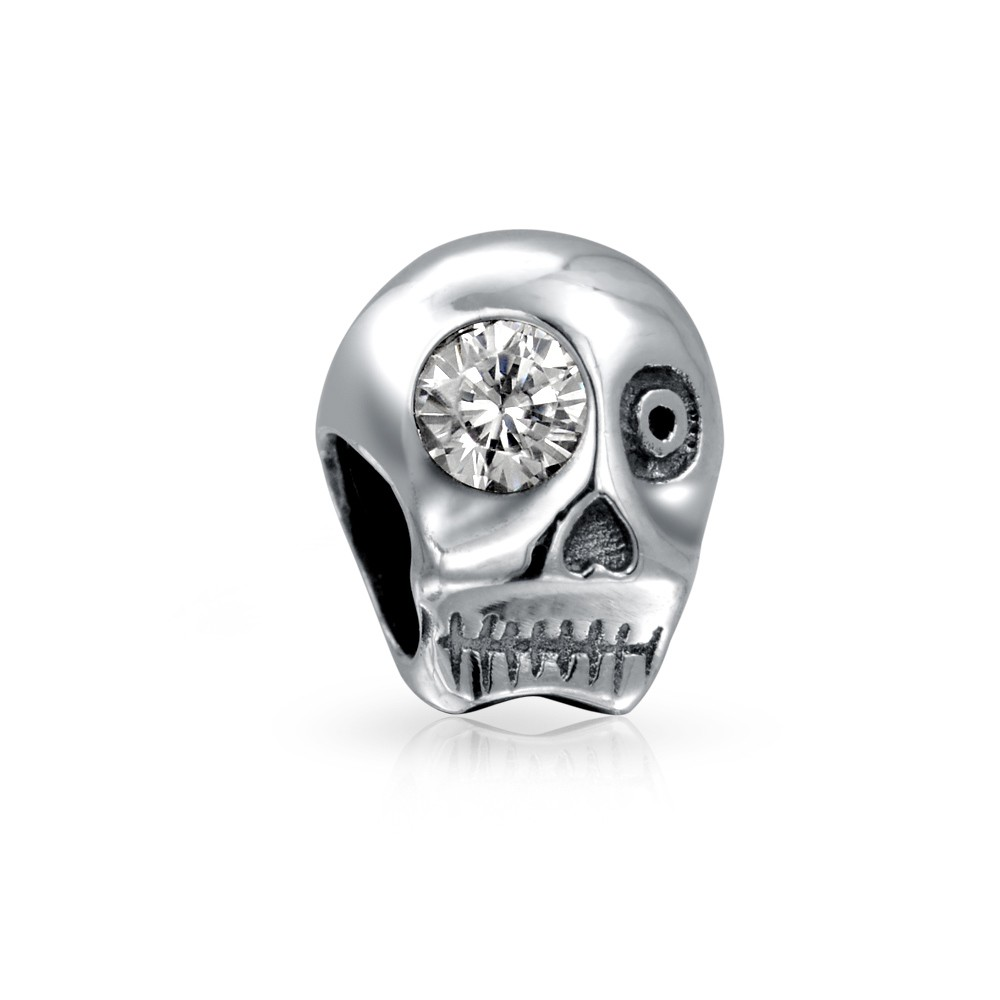 skull jewelry bling jewelry 925 sterling silver skull cz eye bead pandora compatible ckgjfnb
