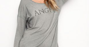 sleep shirts the angel long sleeve sleep tee hdyutwe