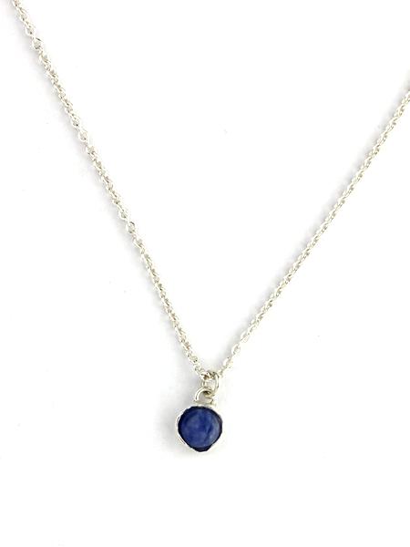 small pendant necklace itty bitty blues pendant necklace - silver gnekovc
